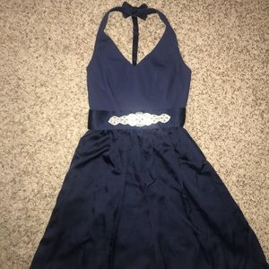 Beautiful White by Vera Wang dress in Navy Blue